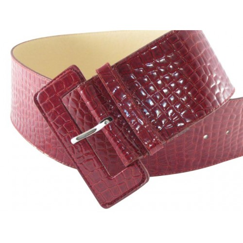 Blood Red Patent Leather Croc