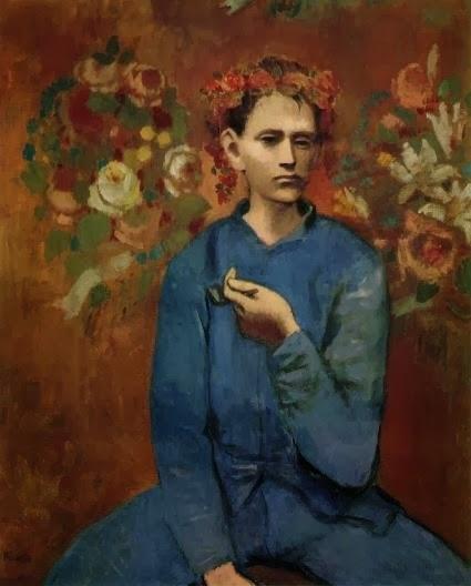 """Картина Пабло Пикассо """"Мальчик с трубкой"""" (1905)"""