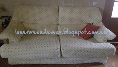 Sofá transformado mediante la tapicería