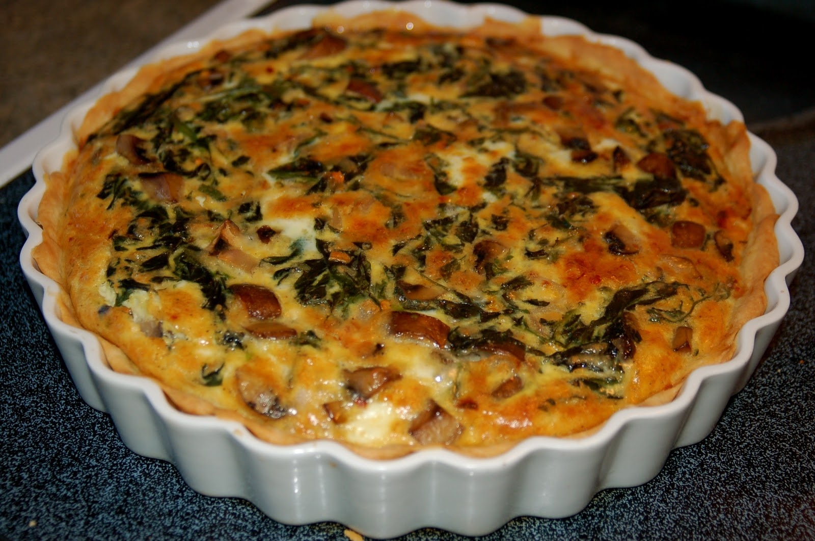 createLIVEflourish: Mushroom & Spinach Quiche