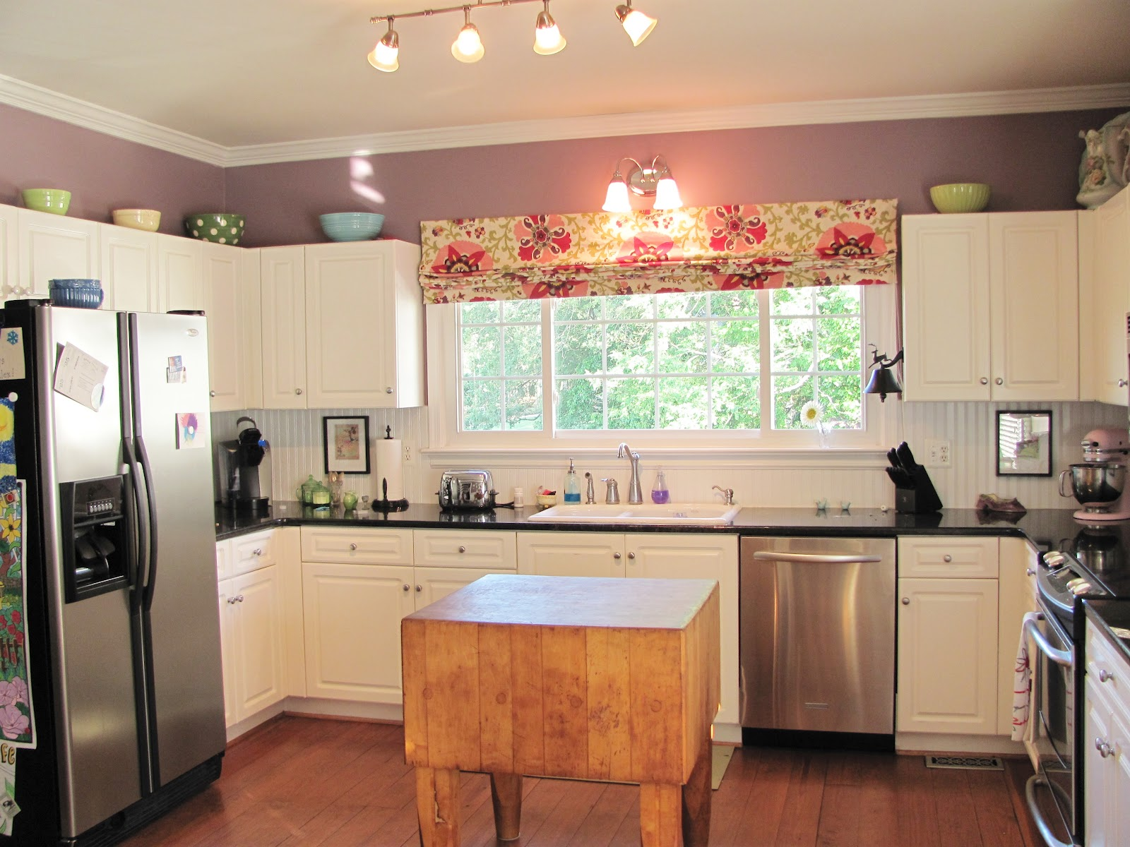 Silver lining decor graphic roman shades for Kitchen window