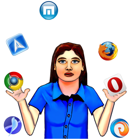 Juggling browsers