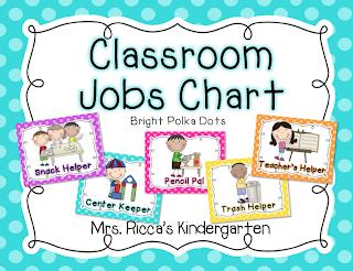 Mrs ricca s kindergarten classroom helpers chart