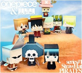 one piece paper craft model