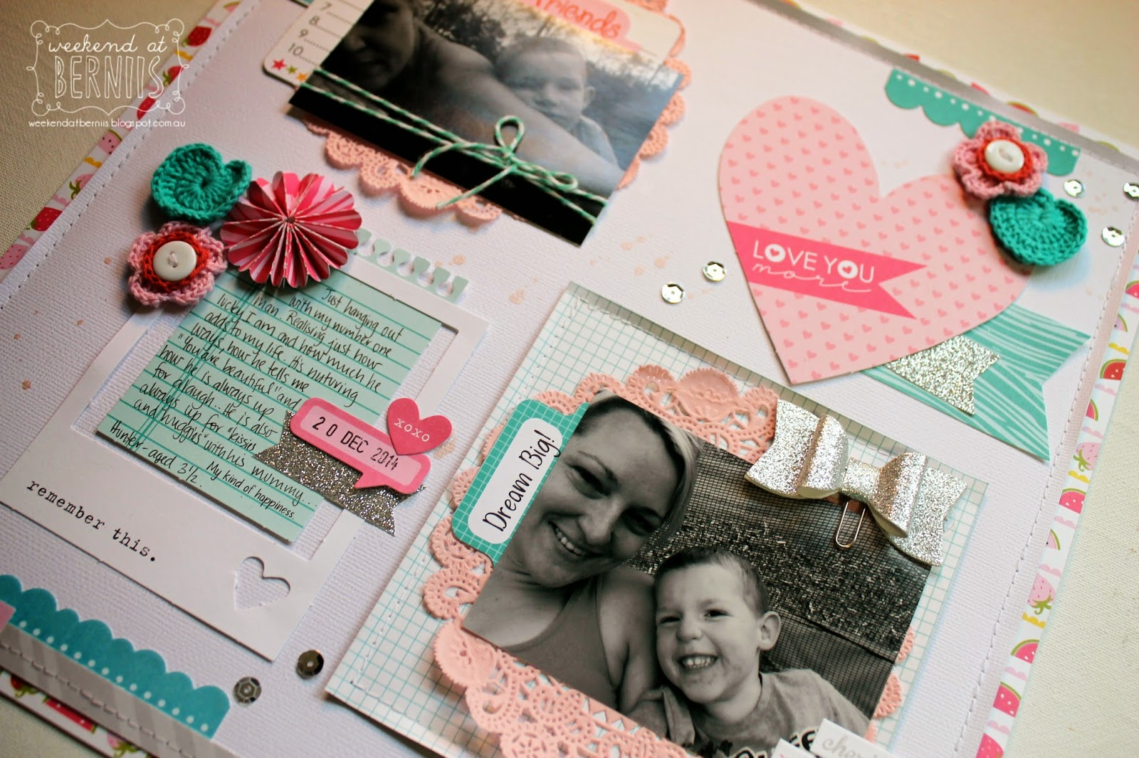 Love You layout by Bernii Miller using Bella Blvd.