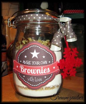 Brownies im Glas - verschenken