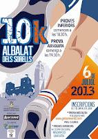 Cartel 10k Albalat dels Sorells 2013