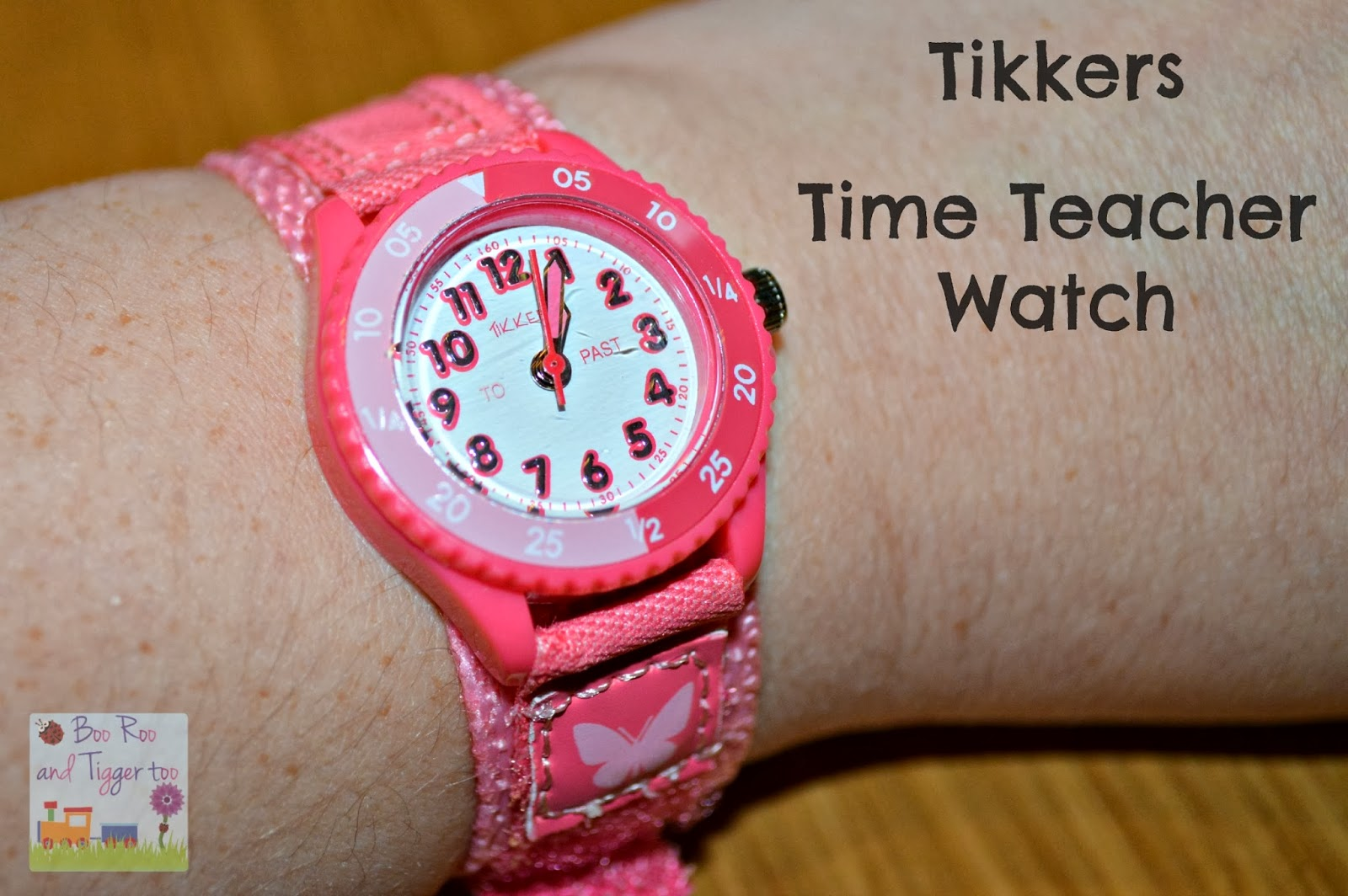 Tikkers Butterfly Time Teacher watch with Velcro strap