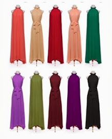 Elegant Halter Neck Big Yards Chiffon Long Dress, RM72