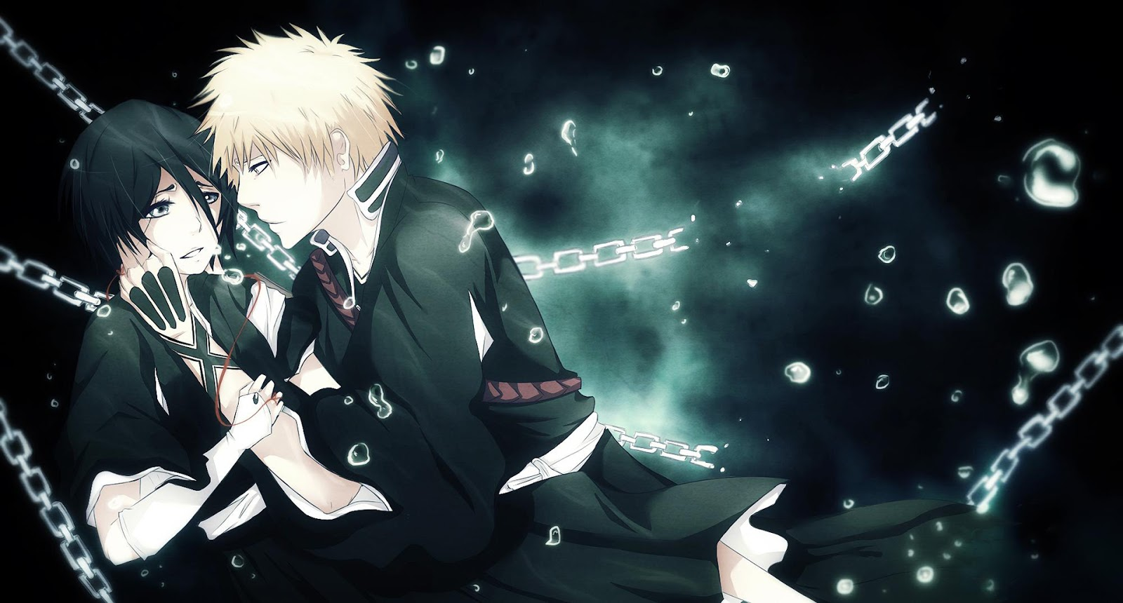 Kurosaki Ichigo Rukia Kuchiki Bleach Anime HD Wallpaper Desktop PC Background 1559