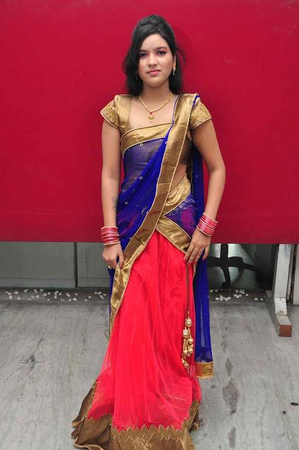 Lishita new Actress saree