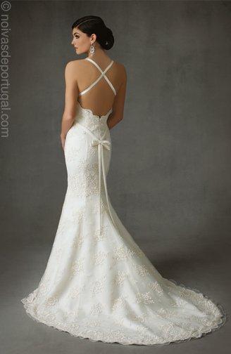 vestidos de noiva sereia. + renda + sereia + laço