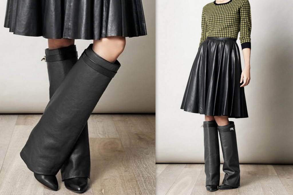 Givenchy Shark Lock knee-high boots best sale for sale 3GN6c4