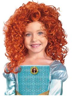 braves merida red costume wig