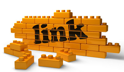 Images of links written on Lego Blocks
