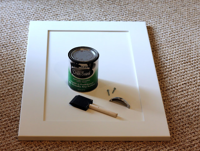 making a chalkboard from a cabinet door