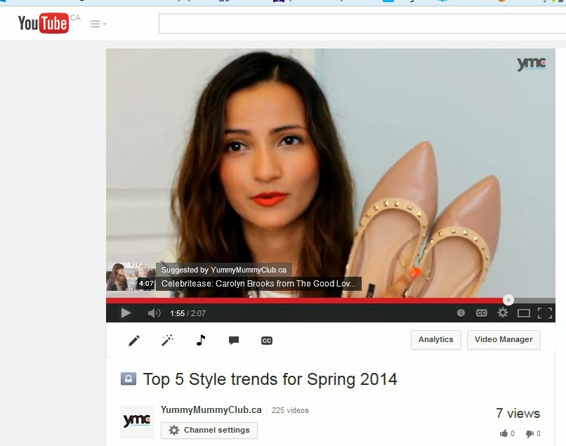 Top 5 Trends for Spring – My First Youtube Video!!!