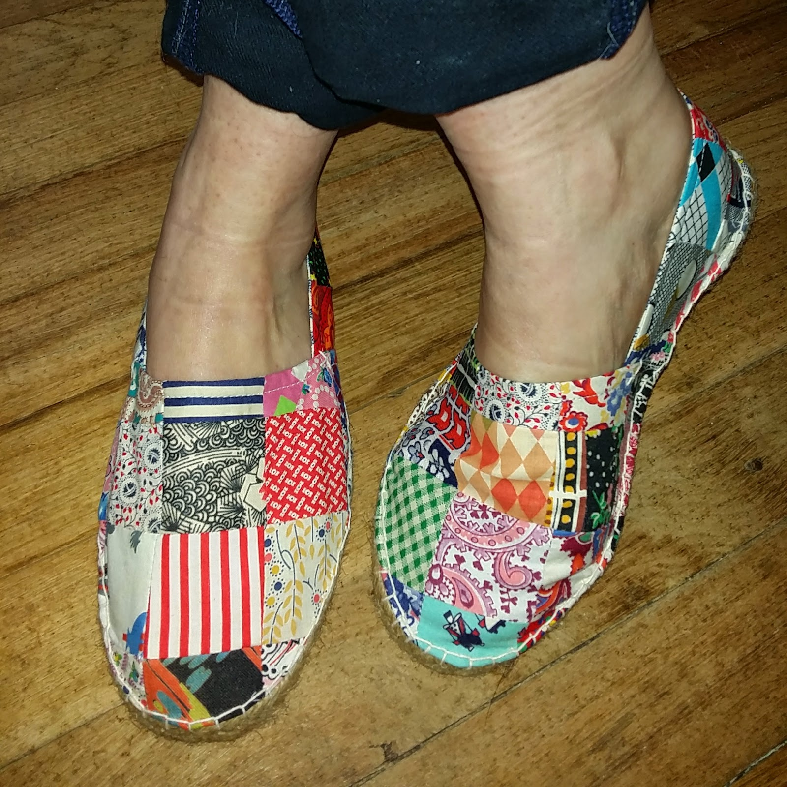 a piece of cloth studio if the shoe fits make your own patchwork shoes. Black Bedroom Furniture Sets. Home Design Ideas