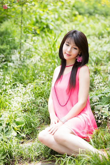 5 Lee Ji Woo in Pink - very cute asian girl - girlcute4u.blogspot.com
