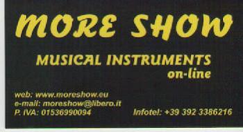 """MORE SHOW """"strumenti musicali"""""""