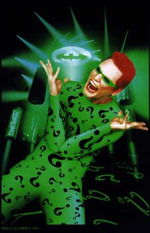 riddler question mark. Riddle me THIS!
