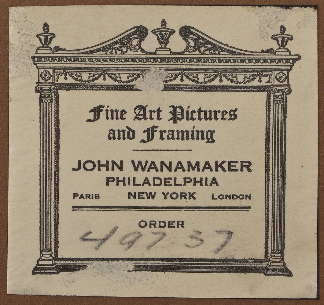 Picture Frame Labels: John Wanamaker
