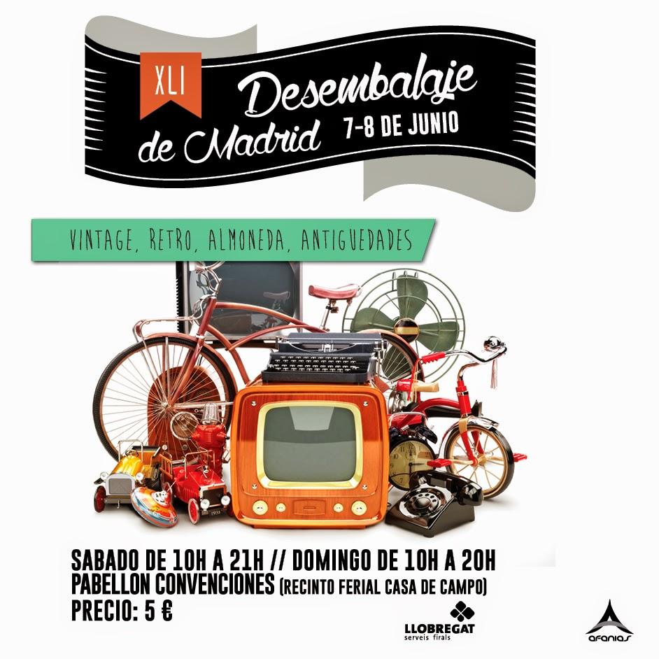 Desembalaje madrid 7 8 junio decoraci n retro vintage y mucho m s etxekodeco - Recinto ferial casa de campo madrid ...