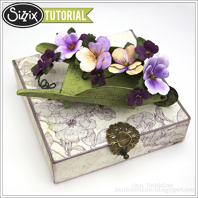 Sizzix Die Cutting Tutorial: Wheelbarrow and Pansies by Jan Hobbins