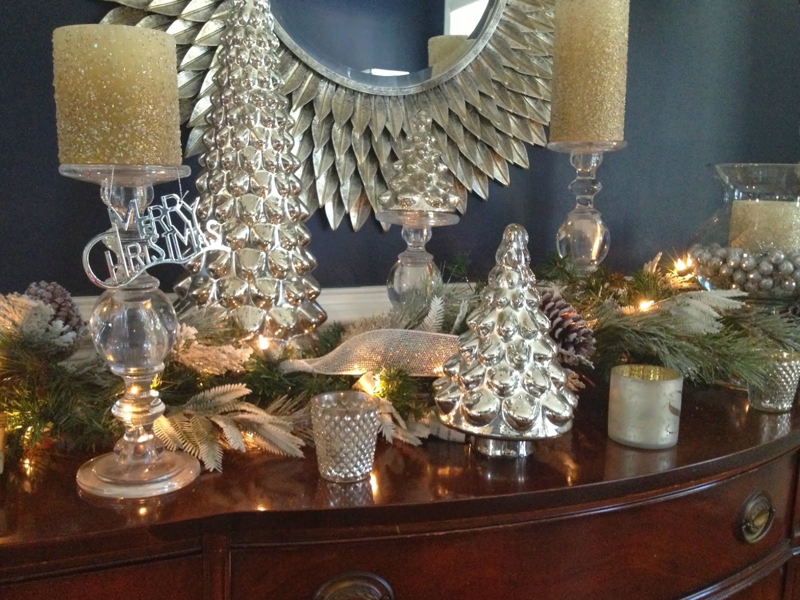 pottery barn mercury glass tree - Mercury Glass Christmas Trees