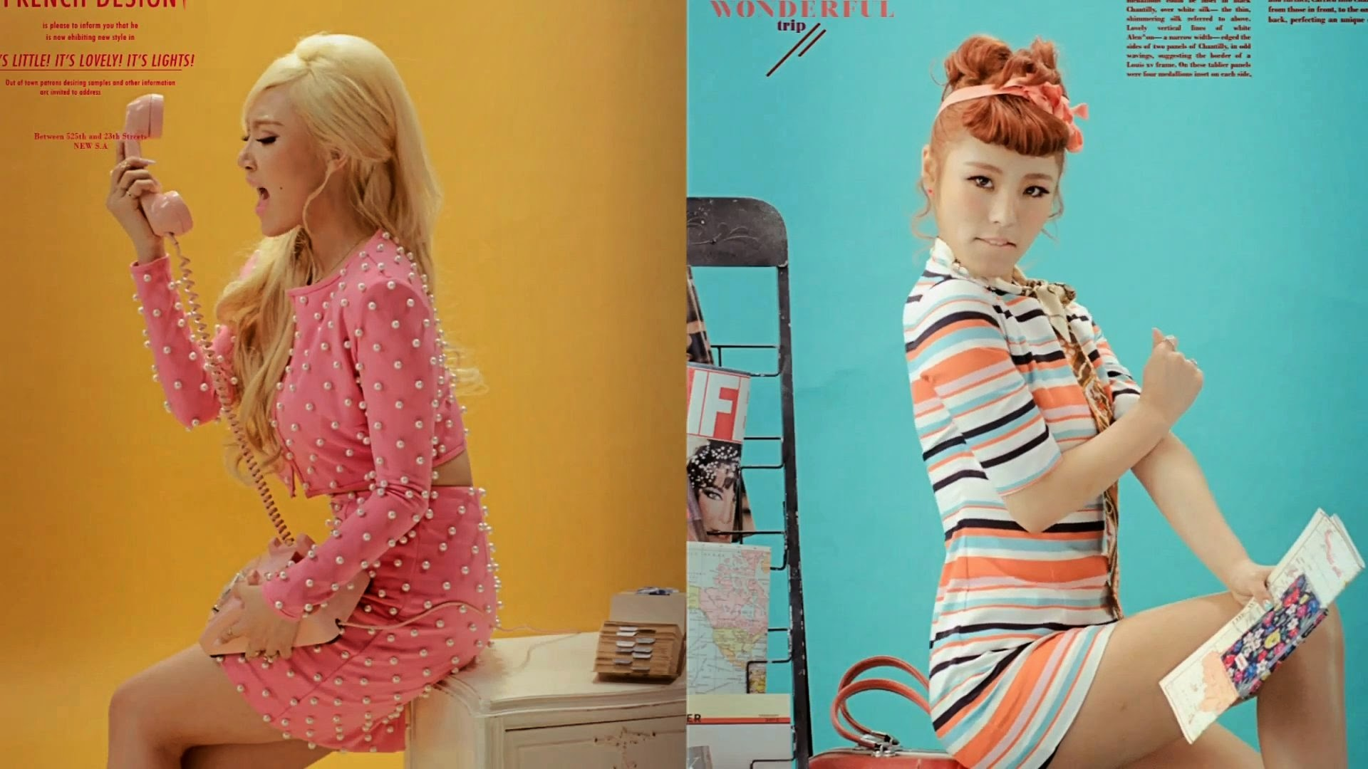Mamamoo's Hwasa and Wheein in Ahh Oop MV
