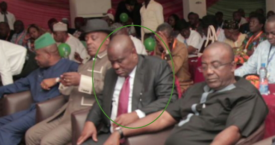 governor nyesom wike sleeping