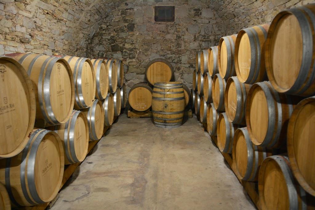 Oller dels Mas castle cellar