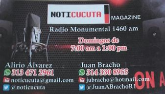 NOTICUCUTA EN RADIO MONUMENTAL - DIAL 1460 AM