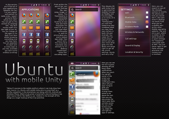 Primeros diseños de Ubuntu para teléfonos móviles