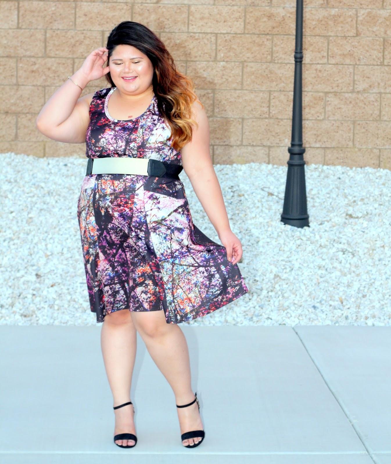 7a2f8756612 Karen Kane ~ Fall Forest Scuba Dress