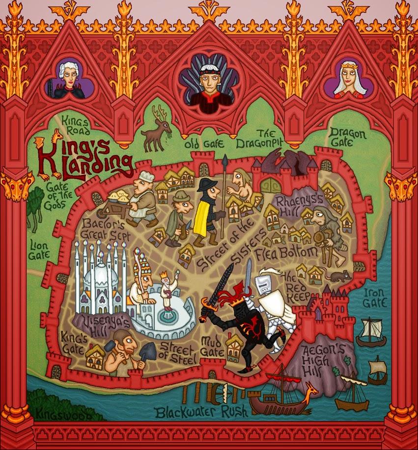 Mapa de Desembarco del Rey (king's Landing)