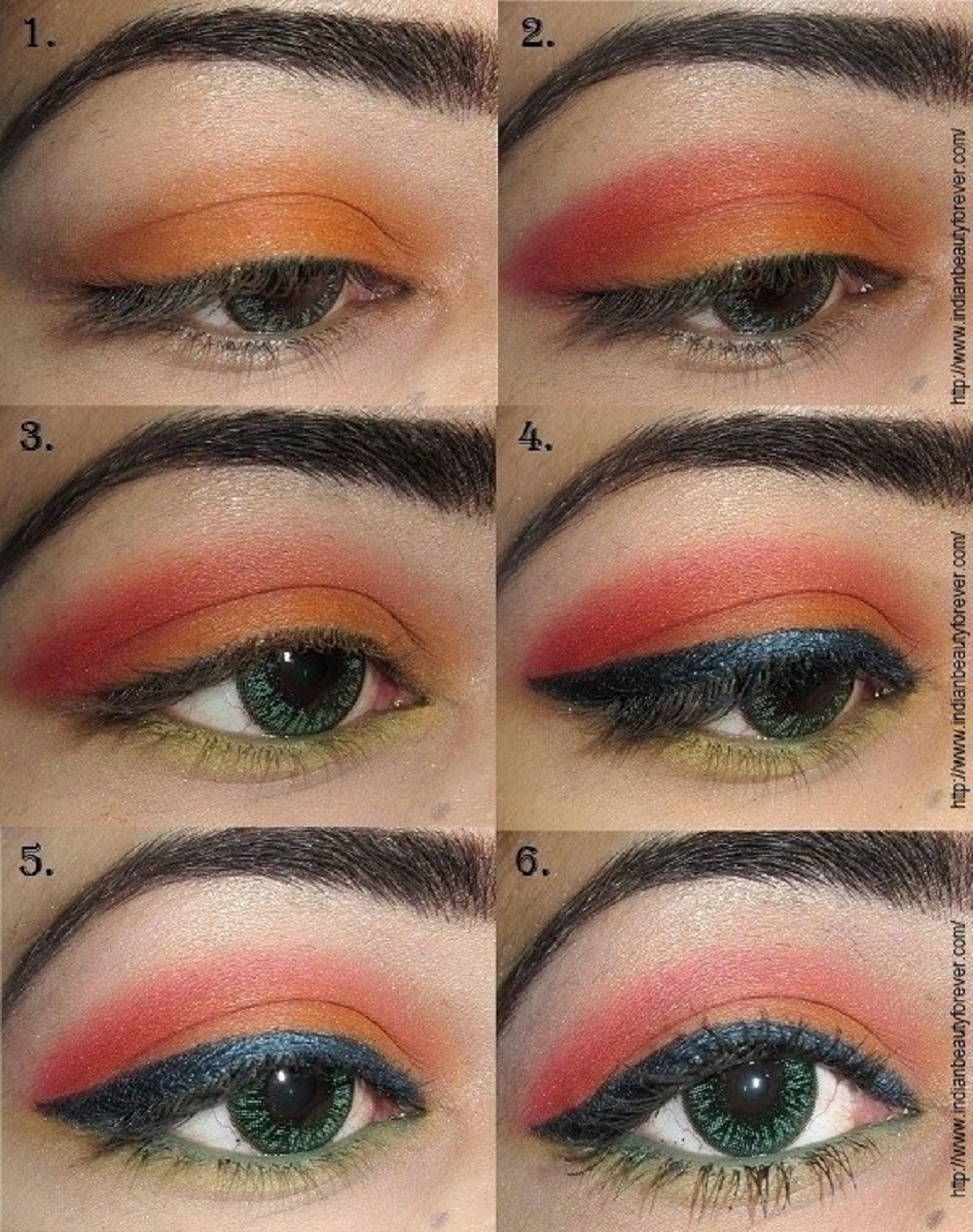 Summer Eye makeup Tutorial for indian eyes