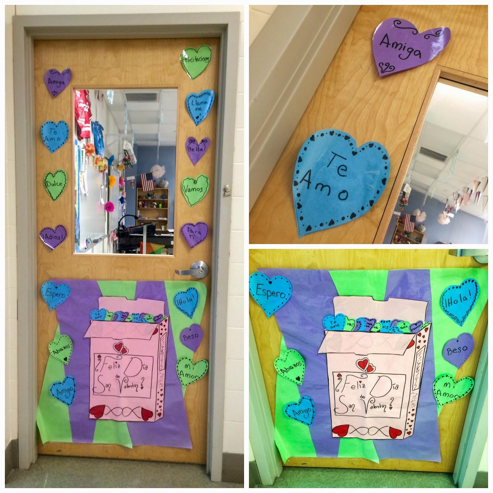 Marvelous Spanish Classroom Door. Maryland Pink And Green Spring Lilly Pulitzer  Valentines Classroom Spanish Door