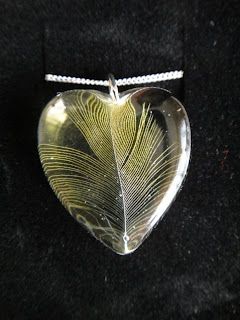 Budgie feather necklace