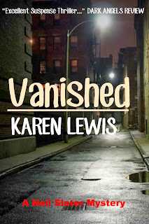 http://www.amazon.co.uk/Vanished-ebook/dp/B00FFAXJ76/ref=sr_1_1?ie=UTF8&qid=1380504393&sr=8-1&keywords=vanished+by+karen+lewis
