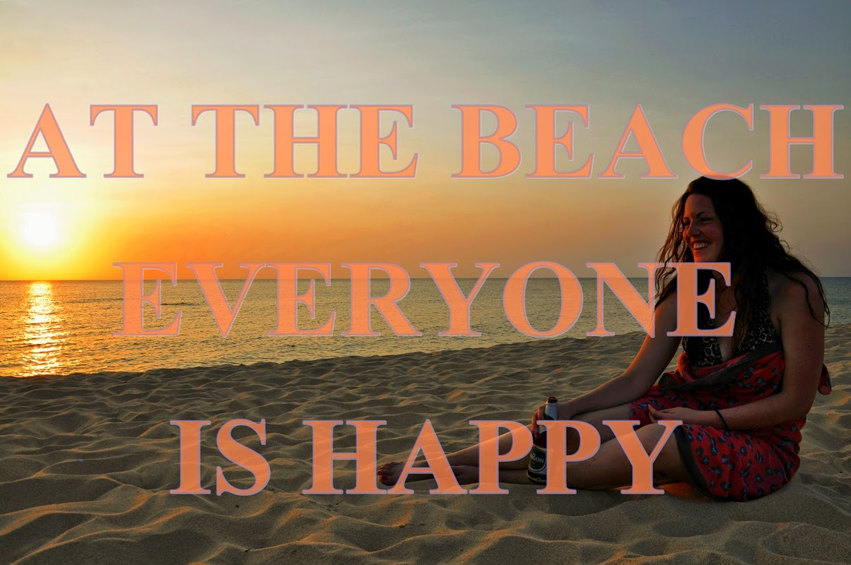 at the beach eveyone is happy!
