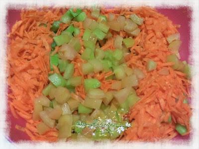 insalata di polipo con verdure crude....