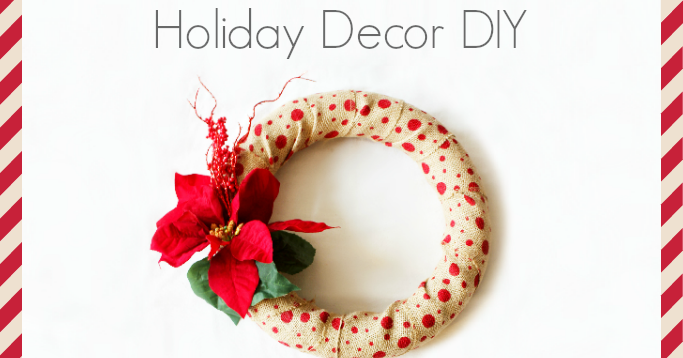 Style delights tutorial how to make a rustic chic for How to decorate a burlap wreath for christmas