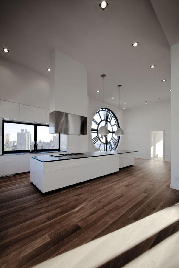 Clock tower modern kitchen design in new york by minimal for Modern kitchen design new york