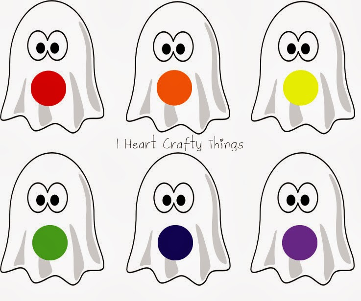 slap the ghost halloween color game i heart crafty things - Ghost Pictures To Color