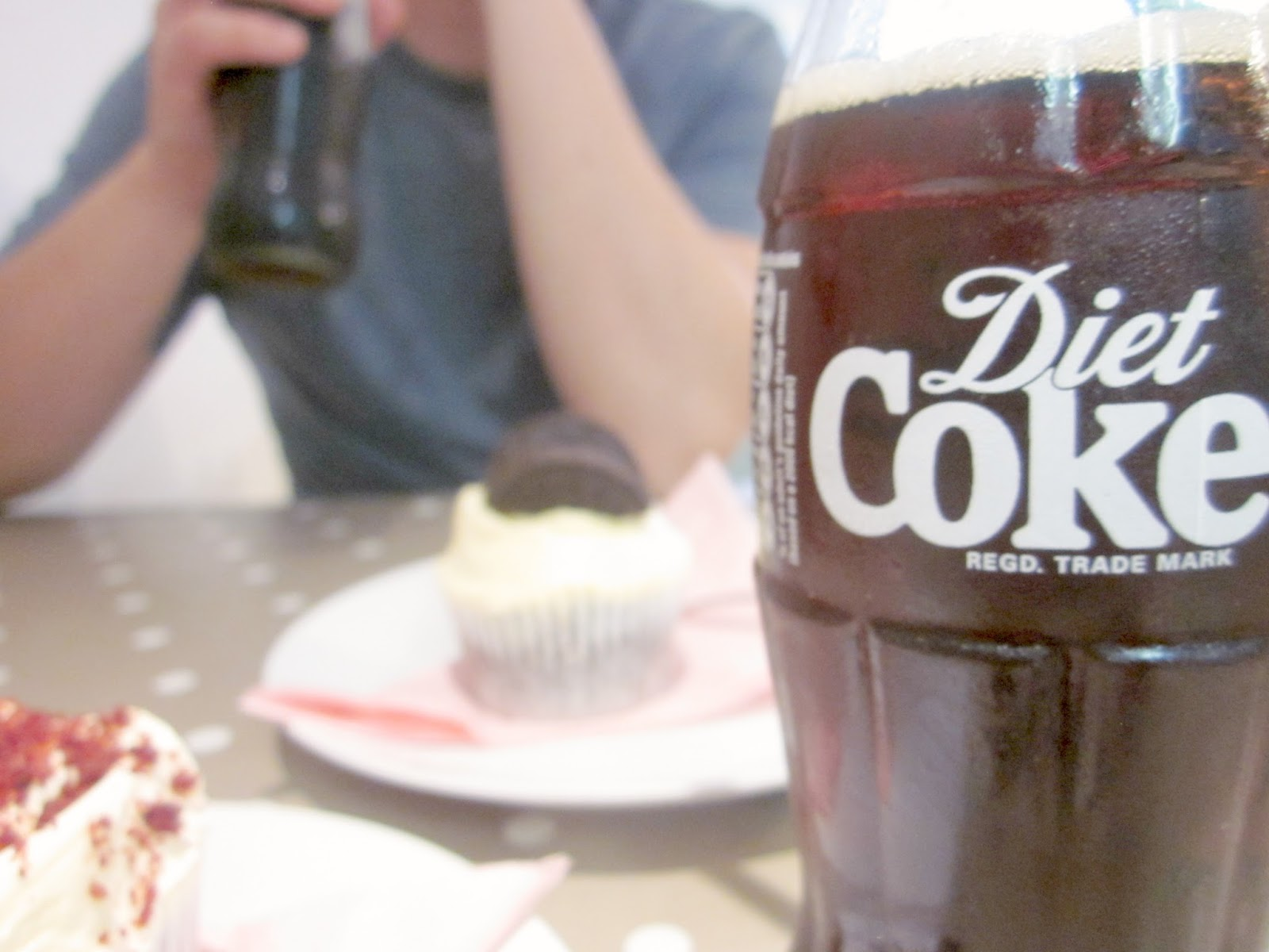 diet coke and cupcakes