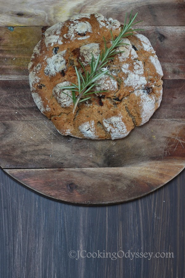 Cooking Odyssey: Rosemary and Sun Dried tomato Buckwheat soda bread ...
