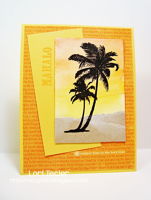 Mahalo card-designed by Lori Tecler/Inking Aloud-stamps from Waltzingmouse Stamps