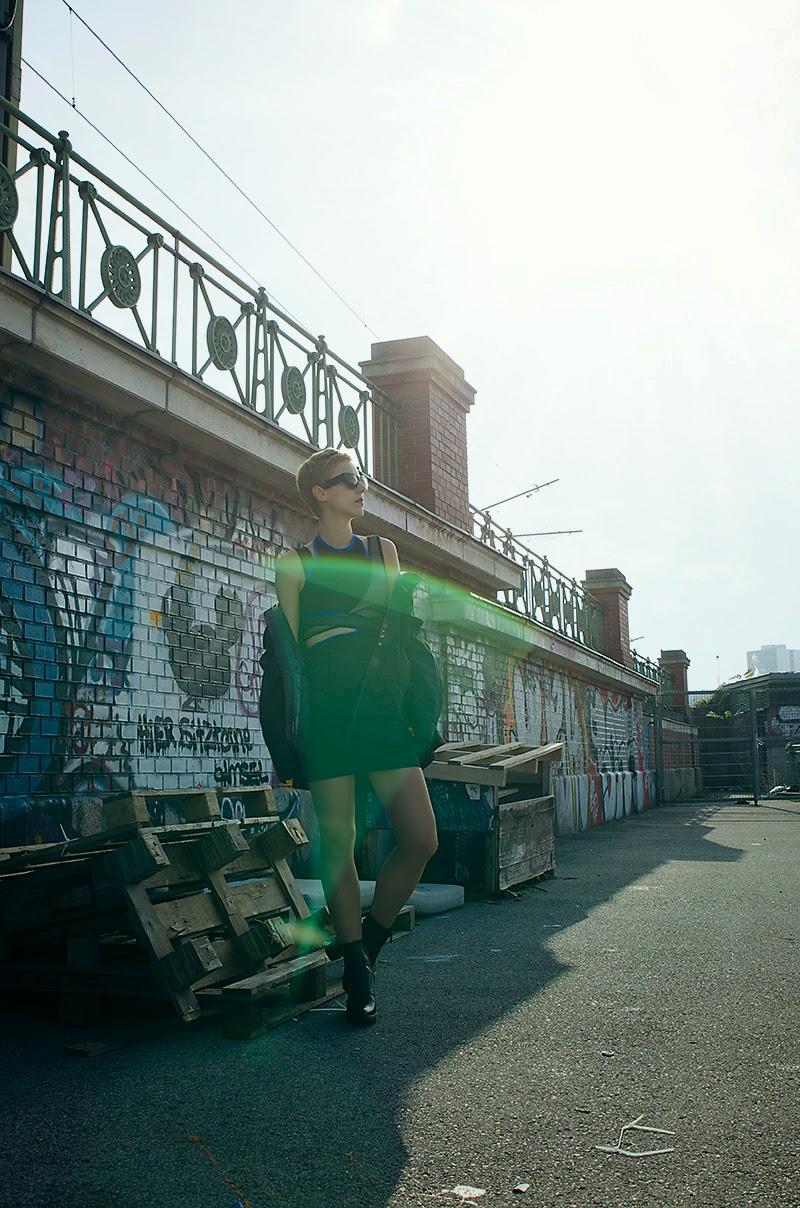 alexander wang x H&M scuba dress beeswonderland