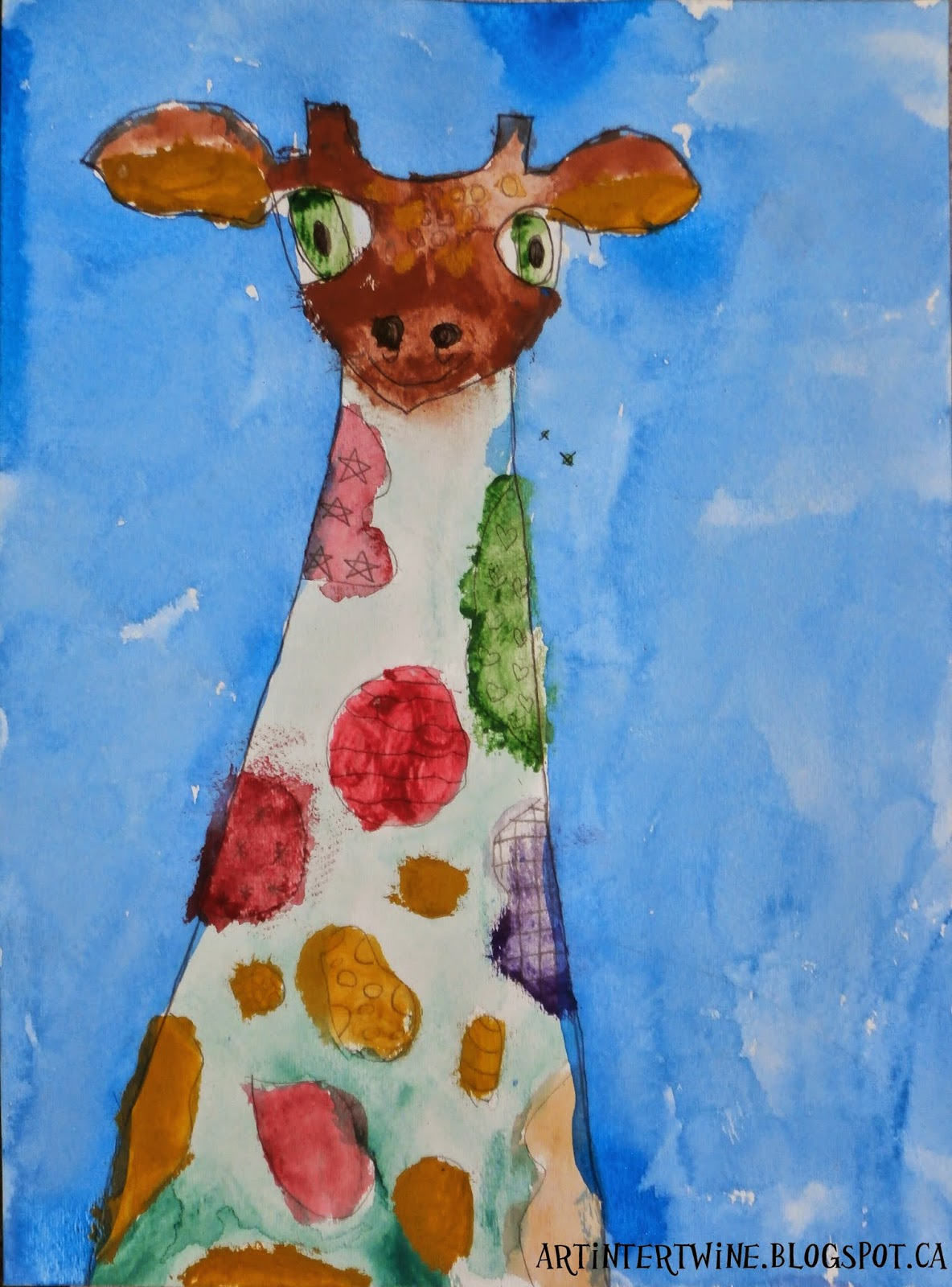 Giraffe Art For Kids